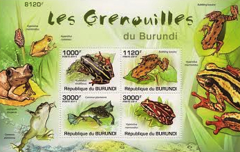 Frogs of Burundi Stamp Set
