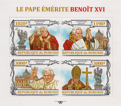 Pope Benedict XVI 4 Stamp Set