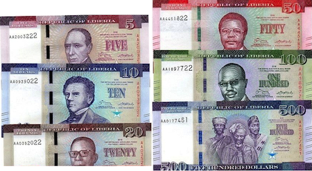 5, 10, 20, 50, 100 and 500 Dollars  UNC 6 Banknote Set