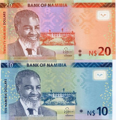 10, 20 Dollar  UNC 2 Banknote Set