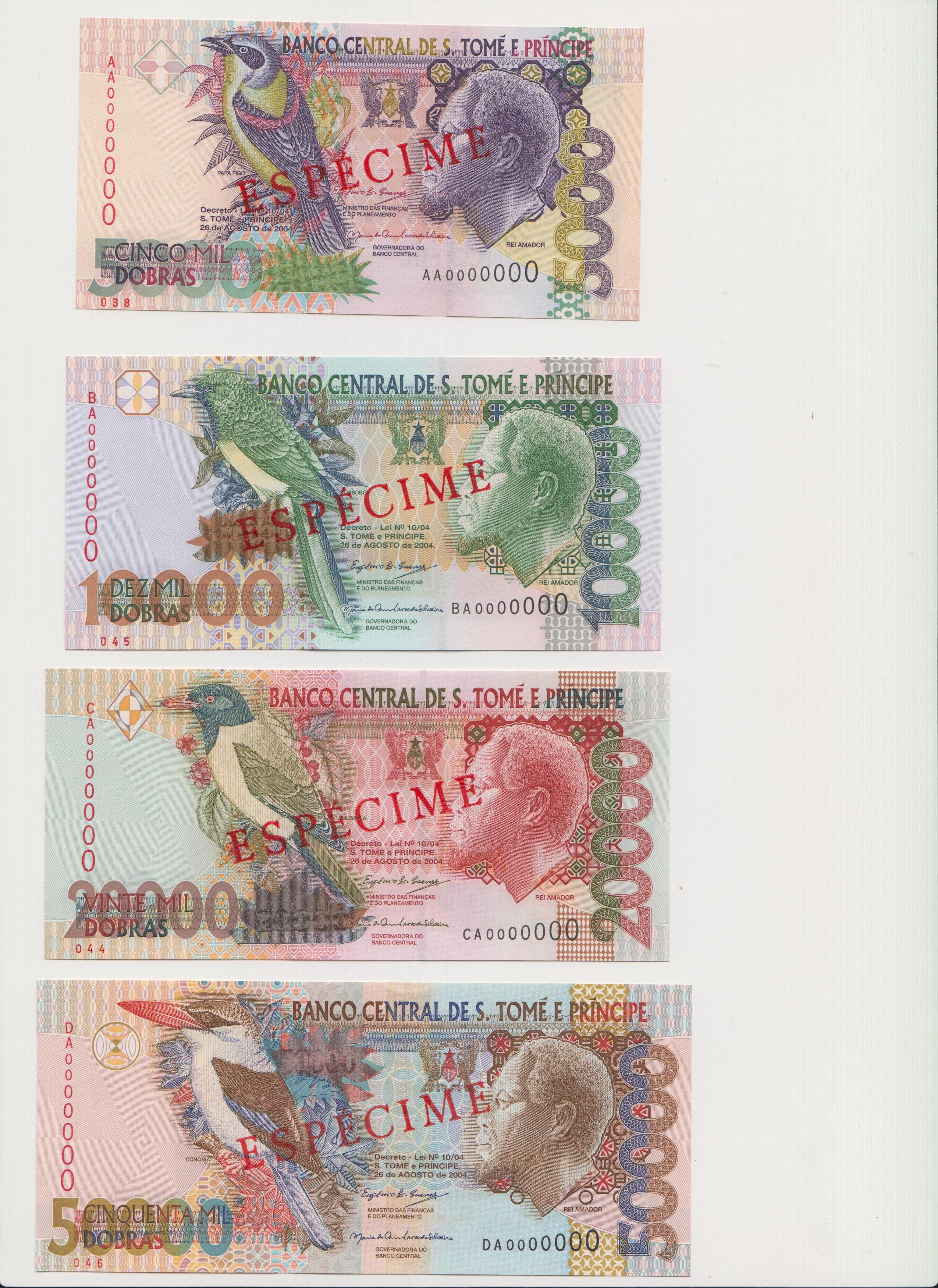 5,000, 10,000, 20,000 and 50,000 Debros  UNC 4 Banknote Set