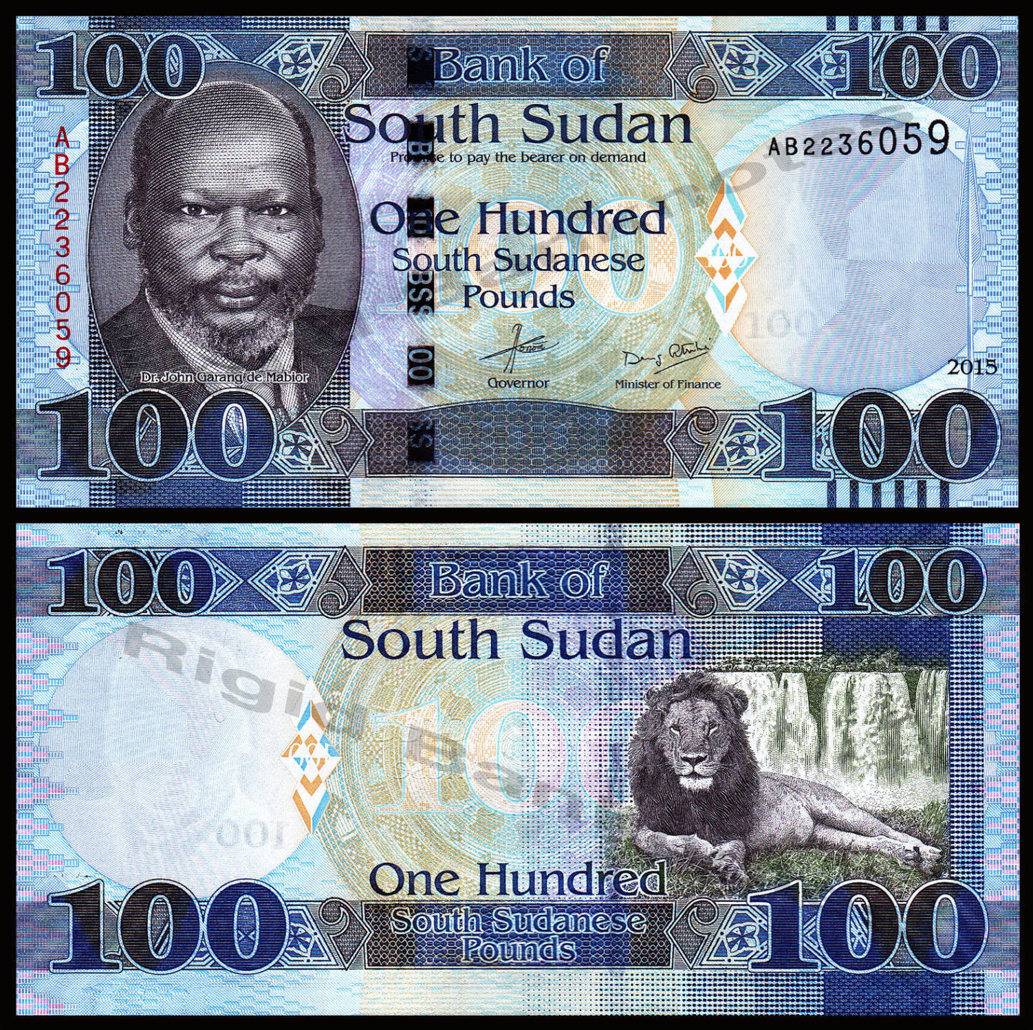 100 Pounds  UNC Banknote