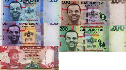 10, 20, 50, 100 and 200 Emalageni  UNC 5 Banknote Set